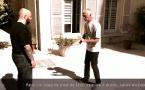 Penchak Silat : Variante 1, parer un coup de pied de face et répliquer aux génitales et rotule par Jean-Noël Naturel et Rémy Gast