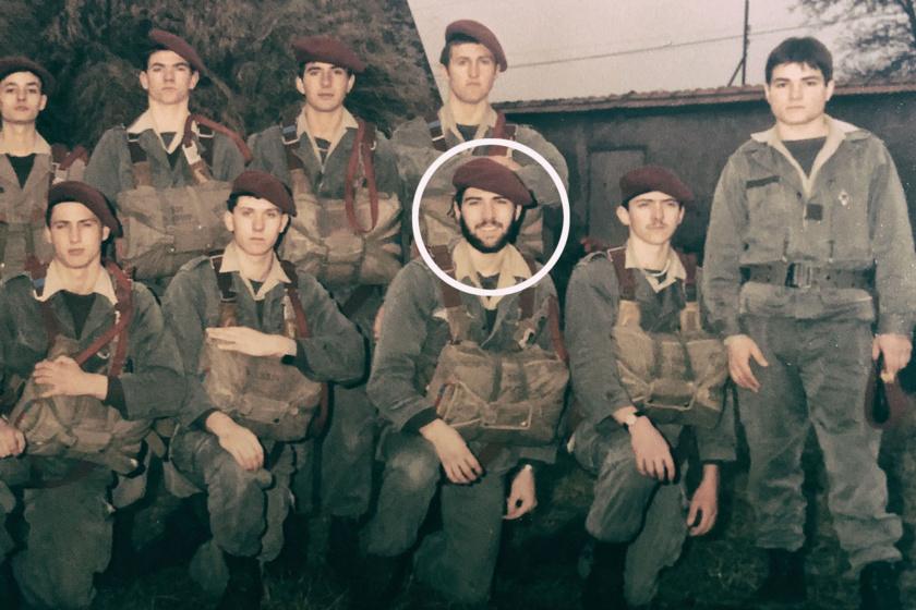 Jean-Noël Naturel jeune parachutiste au service militaire